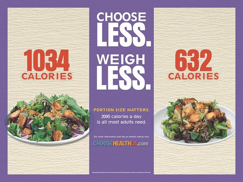 Choose less weigh less portion size matters calories i