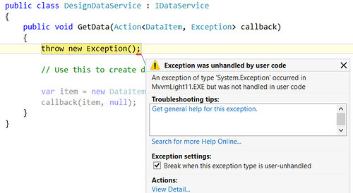 Exception in DataService | by lbugnionblog