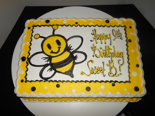 Happy Birthday Bee Cake