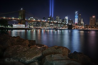 "Brooklyn Beacon ""tribute in light"" 