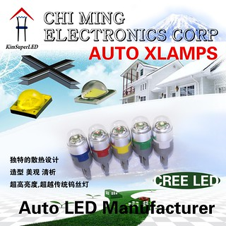 XPE CREE LED Auto bulbs-194 bulbs-Wedge T10 LED Lights | by xpeledming