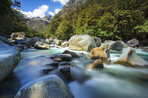 A waterfall near Milford Sound, NZ | by AtomicZen : )