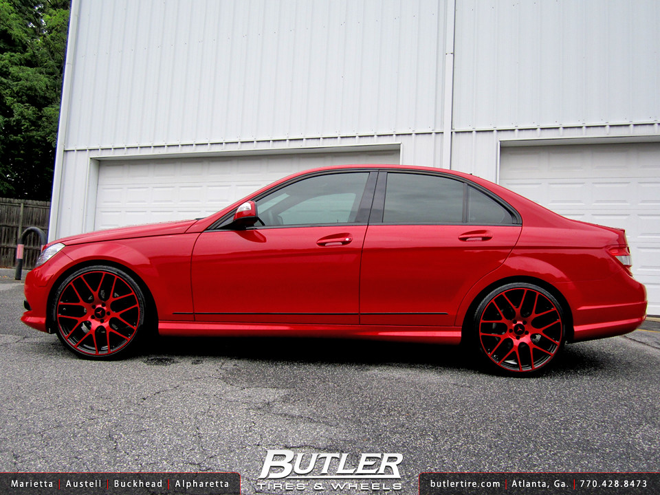 Mercedes benz c300 with 20in tsw nurburgring wheels flickr for Mercedes benz c300 rims