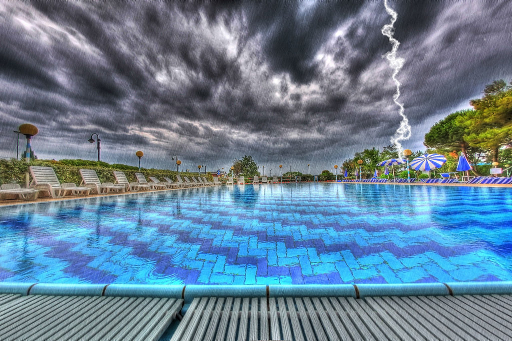 Pool Bauer do not swim during a thunderstorm pool in bibione italy du flickr