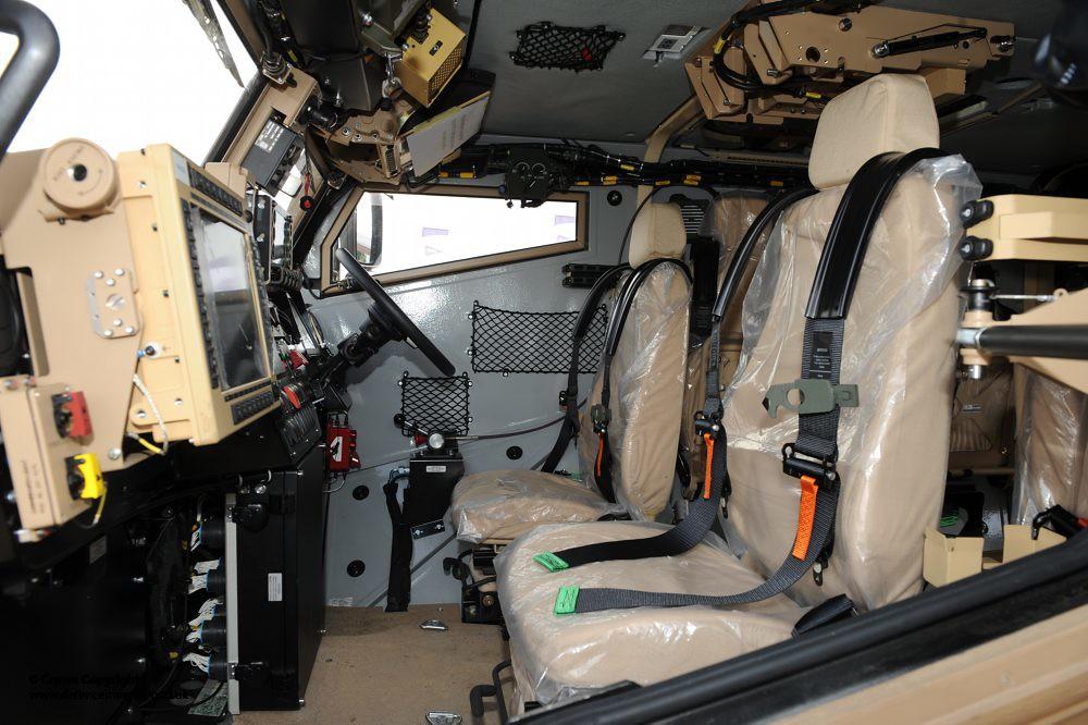 Interior Of Foxhound Patrol Vehicle Interior Of The New