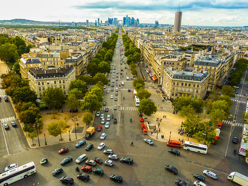 View from Arc de Triomphe | by Nathan Laurell