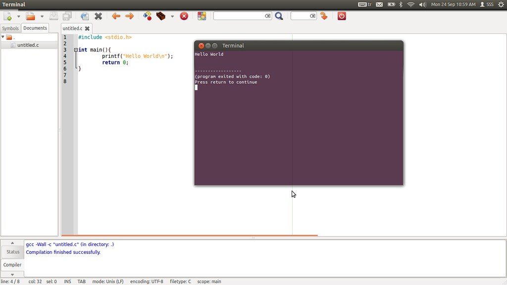 Geany Geany Free Ide For C Programming Ubuntu