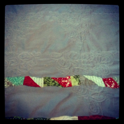 back of Christmas quilt | by vickivictoria