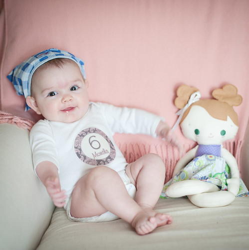 Clara six months | by I Should Be Folding Laundry