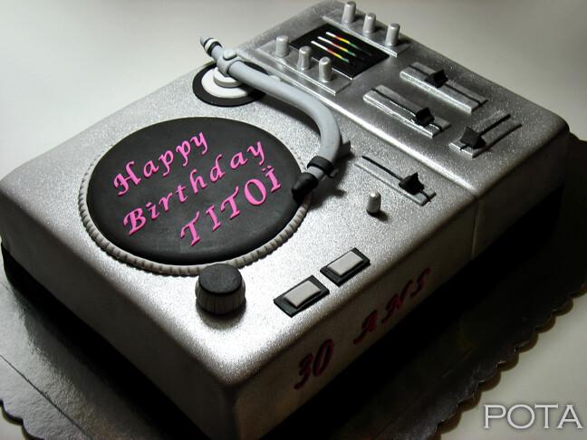 Turntable Birthday Cake Design