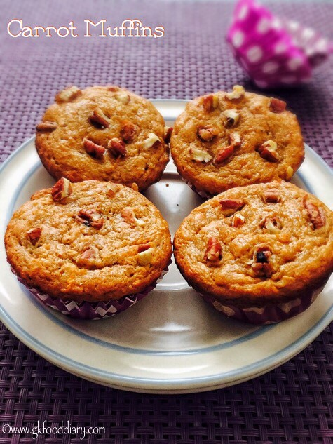 Whole Wheat Carrot Muffins Recipe for Toddlers and Kids3