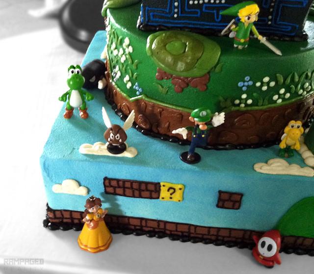 3UP Video Game Wedding CakeVideo Game Wedding Cake