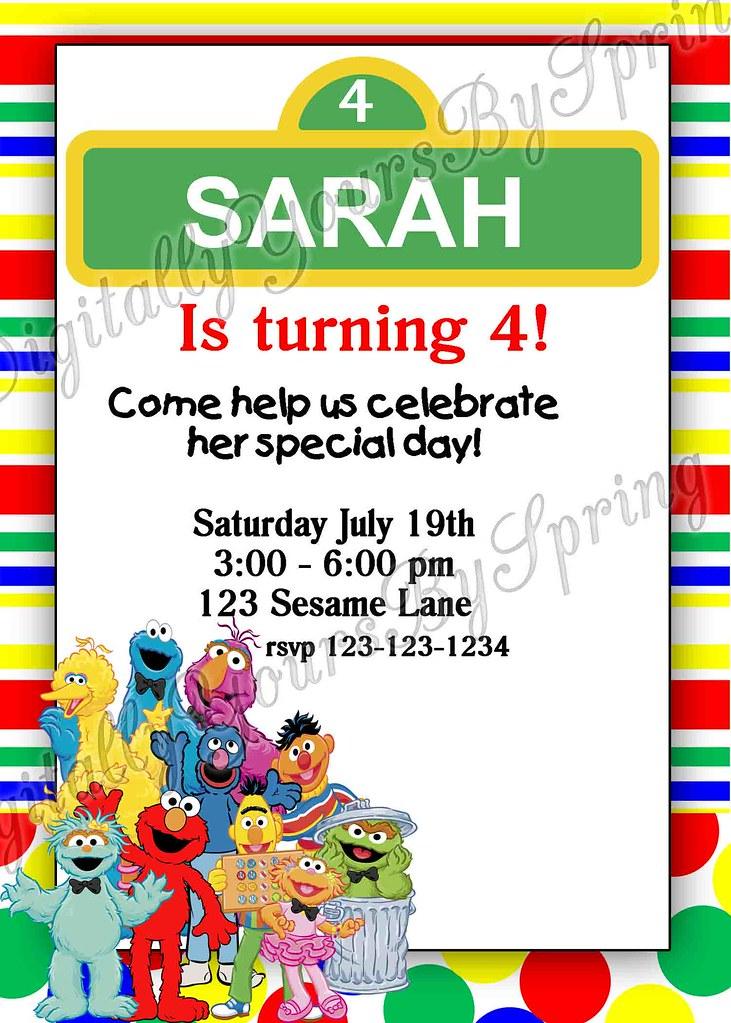 Printable sesame street birthday invitation want a differe flickr digitallyyoursbyspring printable sesame street birthday invitation by digitallyyoursbyspring filmwisefo