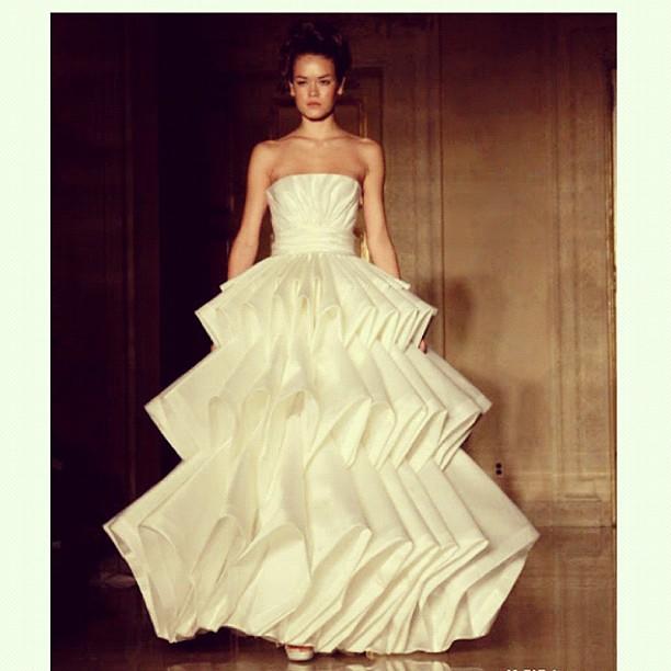 #wedding #dress #origami #folds #bridal week #runway #mode ...