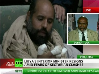 Abayomi Azikiwe, editor of the Pan-African News Wire, speaking on RT worldwide satellite television news on the current situation in Libya. Azikiwe is a frequent guest of several international media outlets. | by Pan-African News Wire File Photos