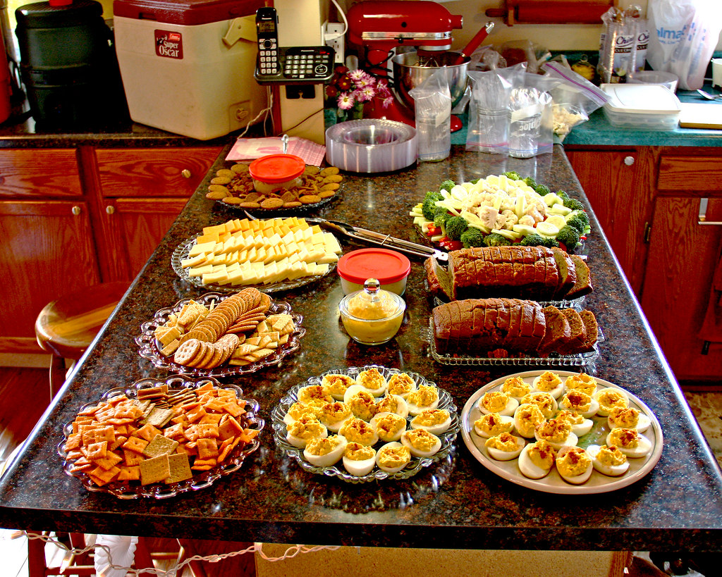 baby shower food we had snacks laid out for the shower on
