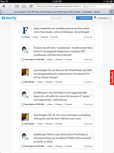 Conversation with @Forbes, @seeminglee and @mhbergen (with tweets) · seeminglee · Storify / 2012-10-31 / SML Screenshots | by See-ming Lee (SML)