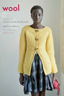Odetta Cardigan  and cover of Wool: book 4 | by knitting school dropout