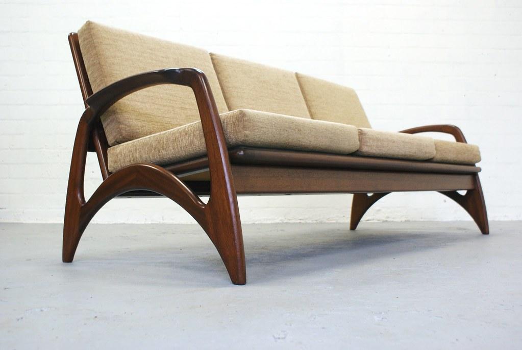 Vintage teak bank sofa jaren 50 60 de ster gelderland topf flickr - Vintage bank thuis van de wereld ...