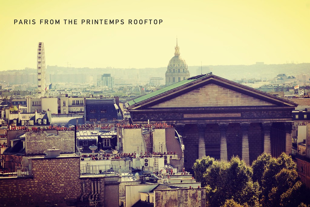 paris from the printemps rooftop madeleine invalides flickr. Black Bedroom Furniture Sets. Home Design Ideas