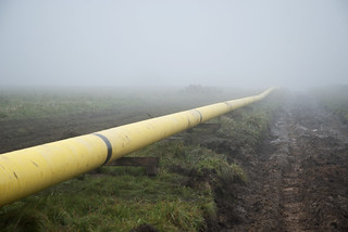 pipeline in the fog | by Rambynas