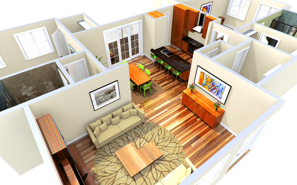 3d rendering architectural visualization architectural p flickr - Interior design for small space house plan ...