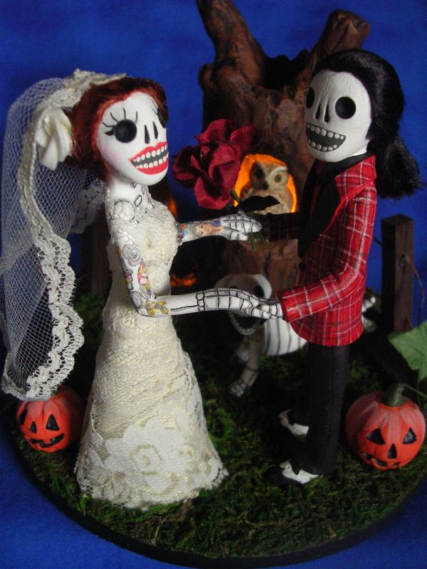 Day of the Dead/ Halloween Wedding Cake Topper/ Diorama | Flickr