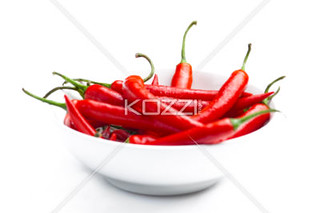 Full Frame Chilli Peppers in a Bowl | by daveflow8877