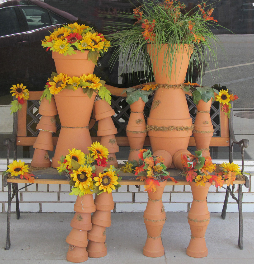 Flower Pot People Downtown Elkhart This Was A Photo