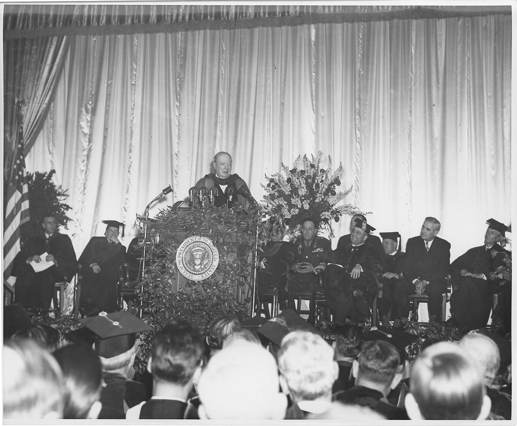 The iron curtain speech -  Missouristatearchives Winston Churchill Iron Curtain Speech At Westminster College Msa By Missouristatearchives