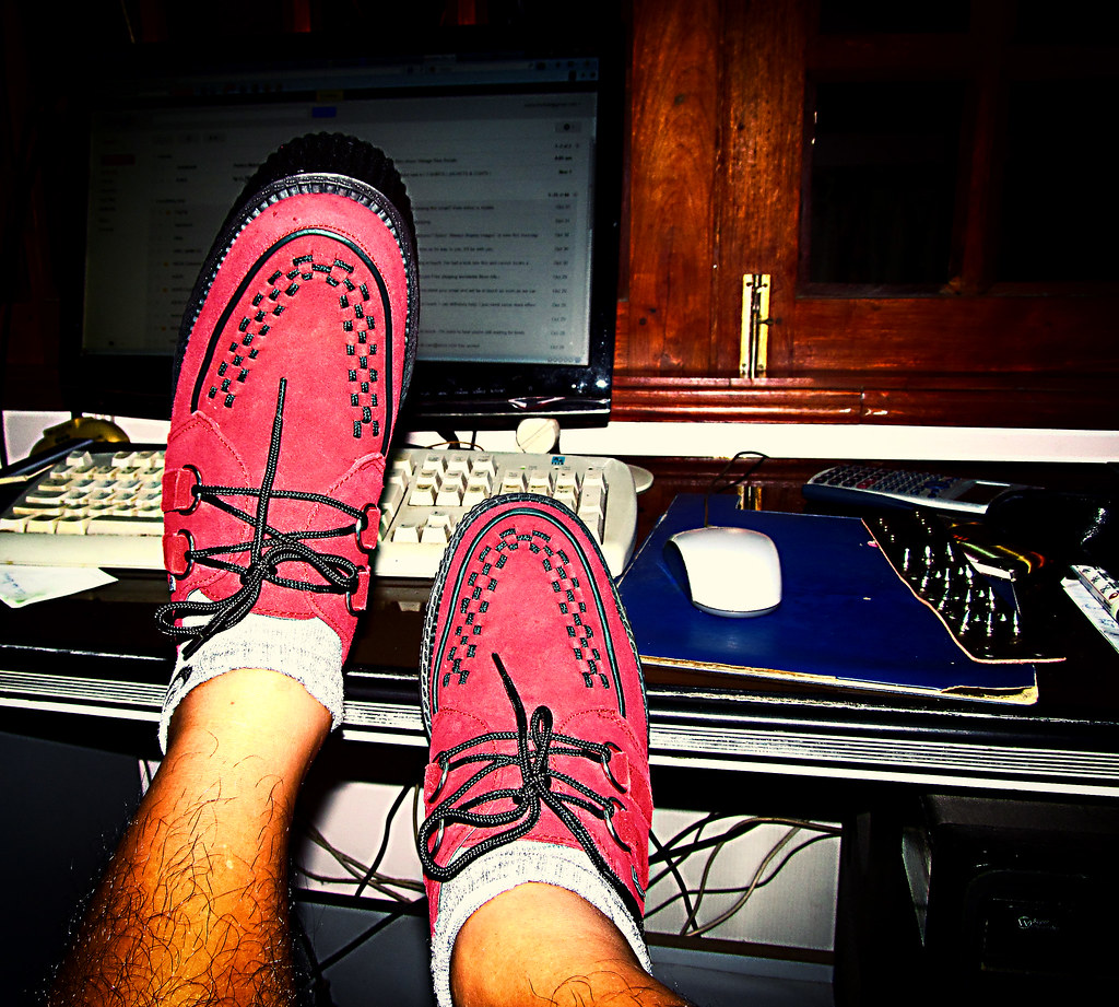 Red Suede Shoes Mens