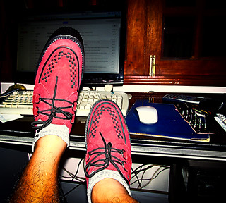 Wine Red Suede Shoes