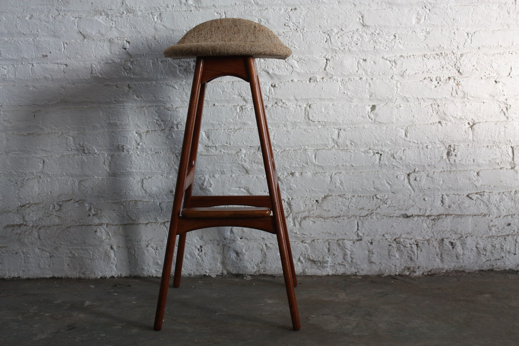 Top Dog Erik Buck Teak Danish Mid Century Modern Bar Stool
