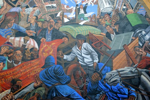 The battle of cable street mural shadwell 1982 by dave for Battle of cable street mural