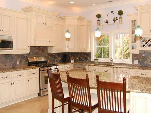 Antique white kitchen cabinets we ship out hundreds of - Lily ann cabinets ...