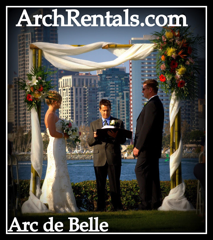Bamboo Wedding Altar: Bamboo Wedding Altar Arch,Romantic Isle Square Rentals 8 B