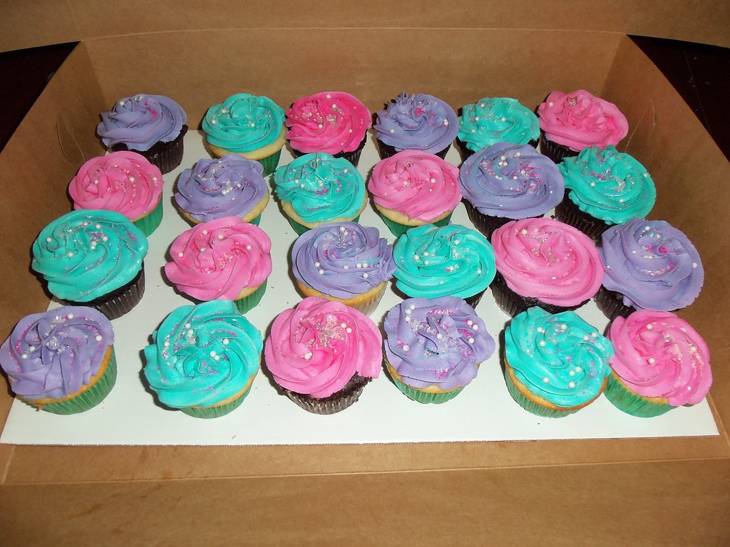 pink teal amp purple cupcakes with sprinkles jessica flickr