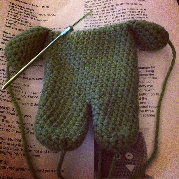 Arms attached! #crochet #amigurumi #monster lisa_sff ...