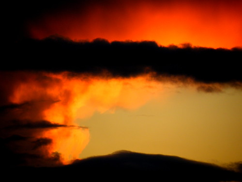 oct2012 oct 13th red clouds at sunset/blindfolded face | by rospix