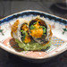 Premium Sea Urchin from Hokkaido in Lace Wrapping Deep Fried Rare with Edamame Beans Paste