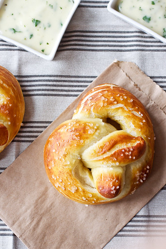 Soft Pretzels with Roasted Jalapeno Cheese Sauce | by Smells Like Home