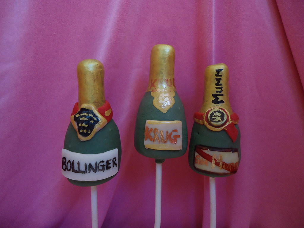 Champagne Bottle Cake Pops By Pop Creations