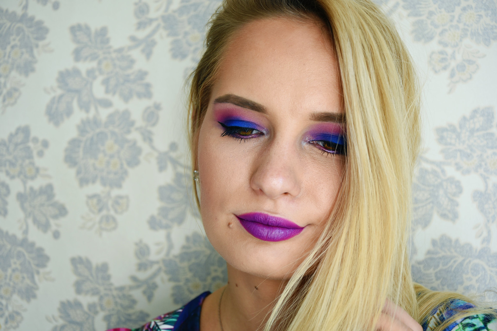 Deep purple makeup look