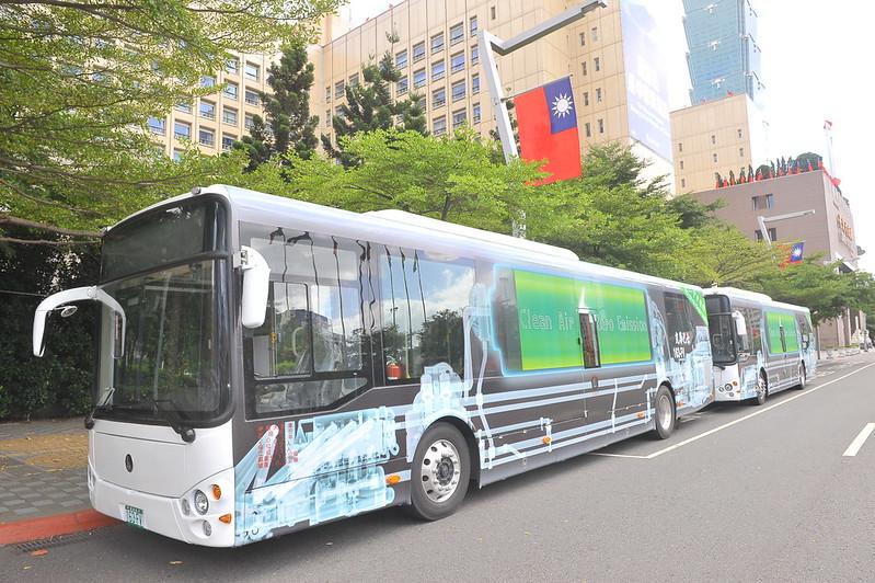 電動公車。資料照片。