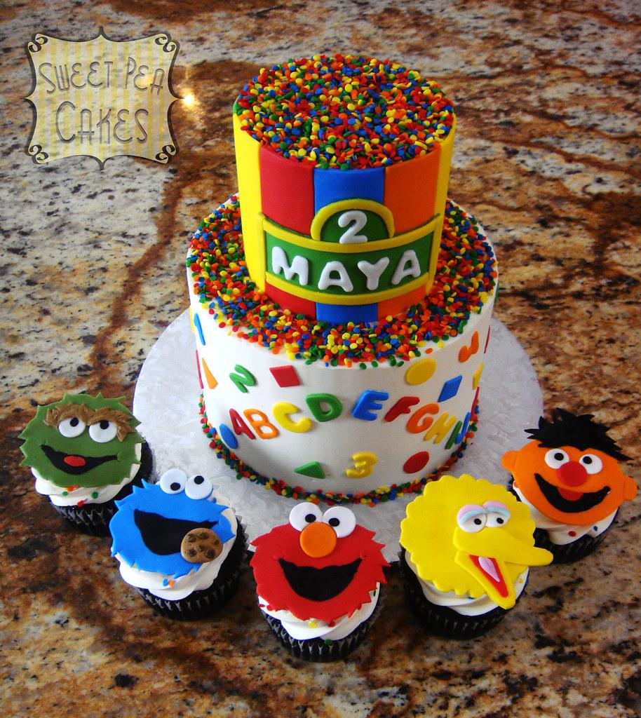 Sesame Street Cake St Birthday