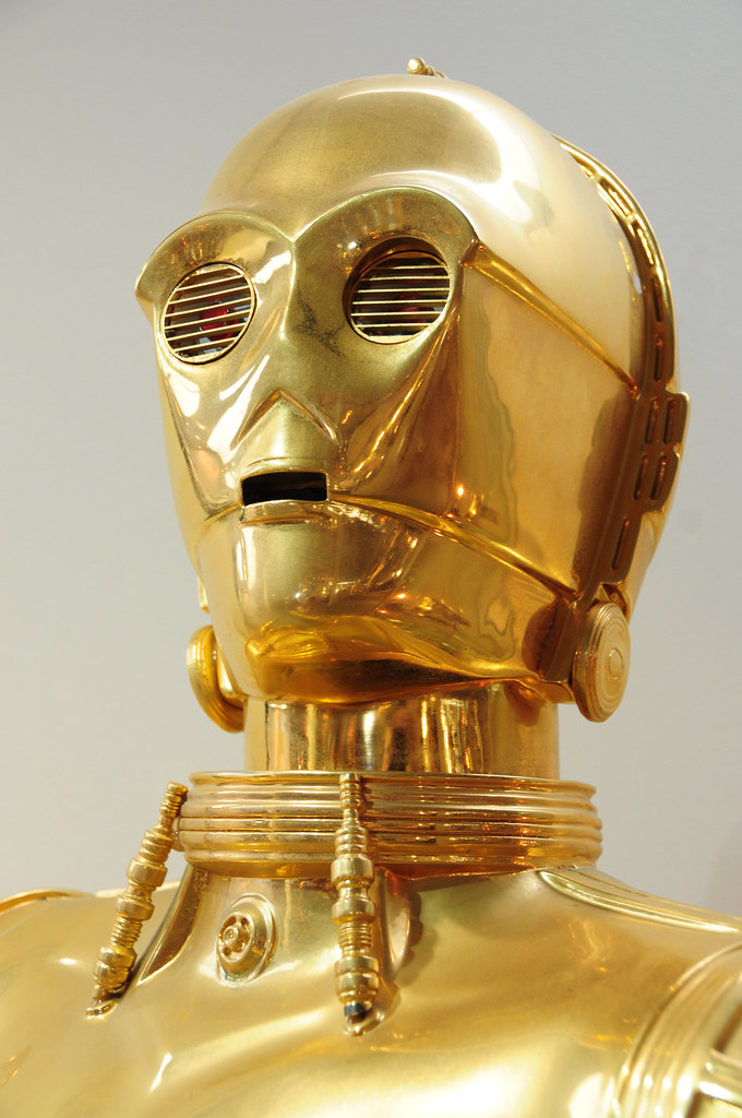C 3po star wars droid robot at jersey goldsmiths flickr - Robot blanc star wars ...