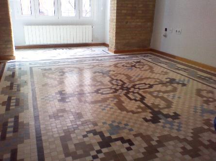 Mosaicos para suelos elegant baldosas de suelo vinilico for Suelo vinilico mosaico