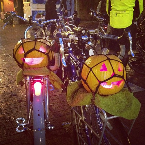 Our pumpkins going for a bike ride tonight. | by amckimmey