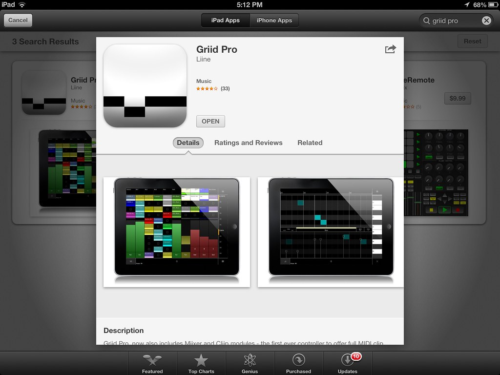 griid pro ipad midi controller apps for music compositio flickr. Black Bedroom Furniture Sets. Home Design Ideas