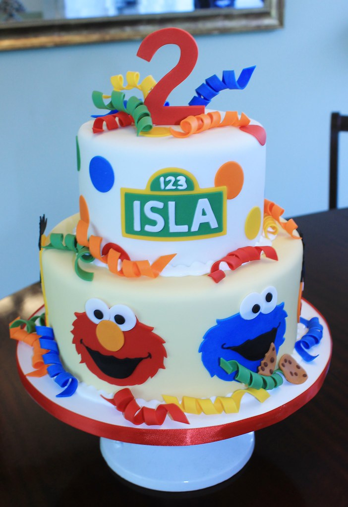 Isla S Cake Sesame Street Themed Cake For Little Isla